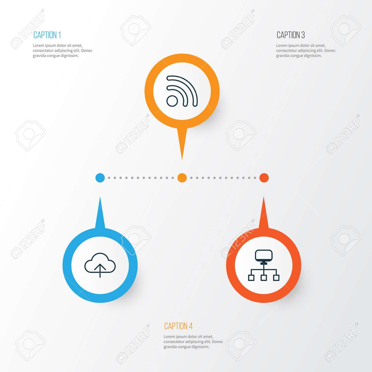 Conjunto De Iconos De Internet. Colección De Conexión Local ... 09543147155