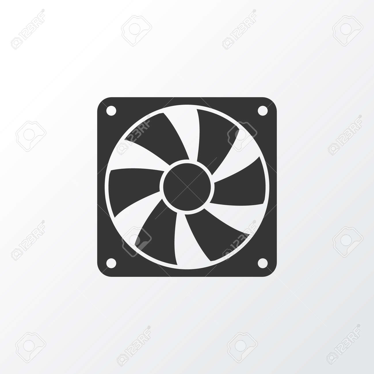 Cooler Icon Symbol. Premium Quality Isolated Fan Element In Trendy Style. - 90357514