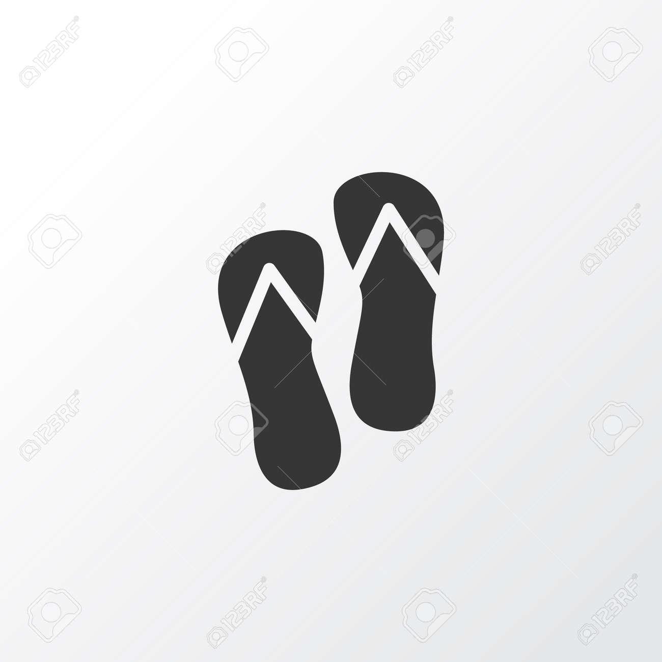de1811351 Flip flops icon symbol. Premium quality isolated beach sandal element in  trendy style. Stock