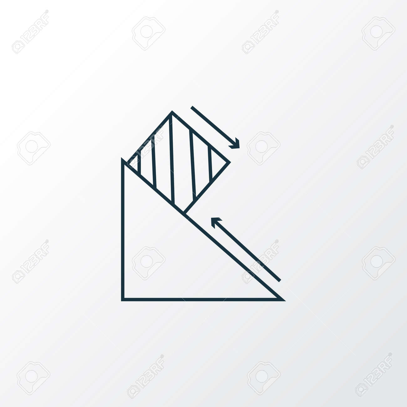 Physics icon line symbol. Premium quality isolated friction force element in trendy style. - 110455312