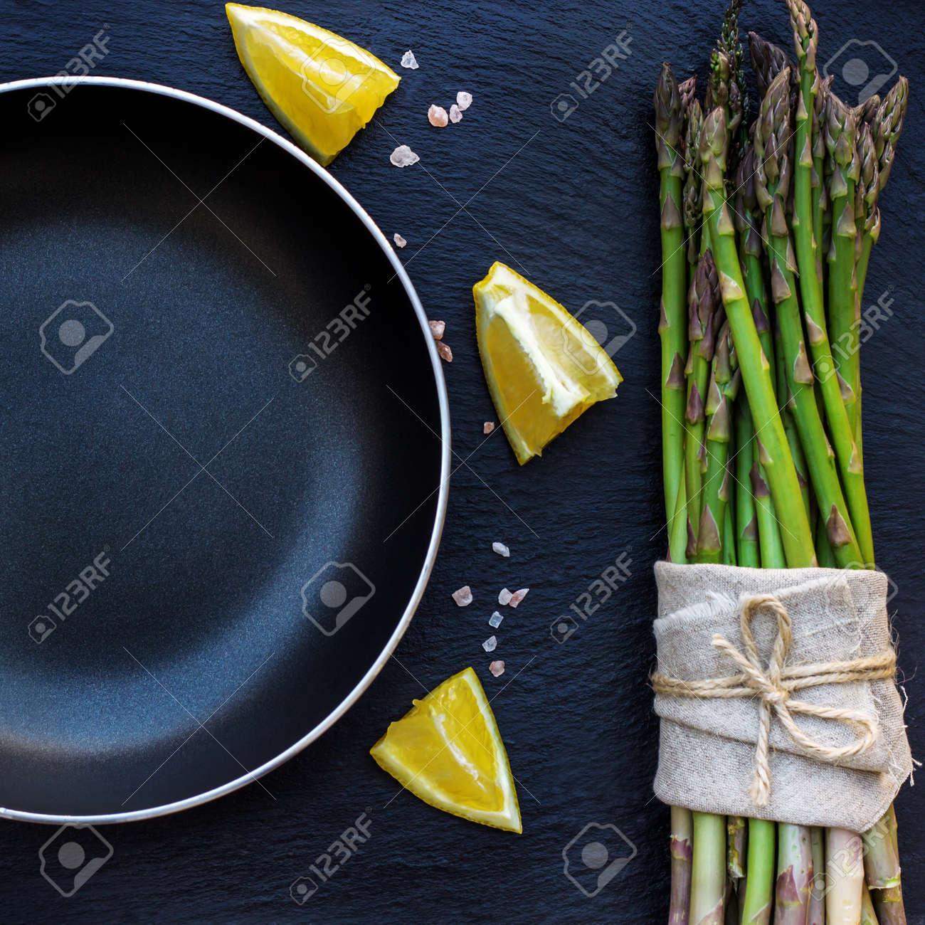Gesundes Essen Konzept Bündel Organischer Frischer Spargel Mit