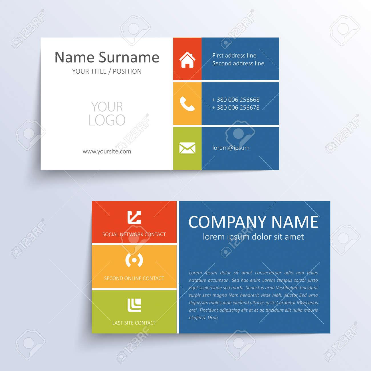 Modern simple business card template royalty free cliparts vectors modern simple business card template stock vector 27665041 colourmoves
