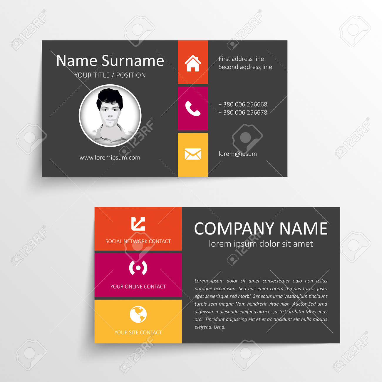 Modern simple business card template royalty free cliparts modern simple business card template stock vector 28040693 colourmoves