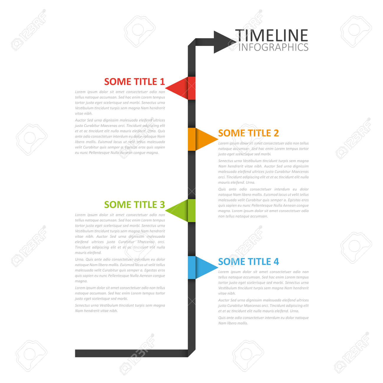 modern timeline design template royalty free cliparts vectors and