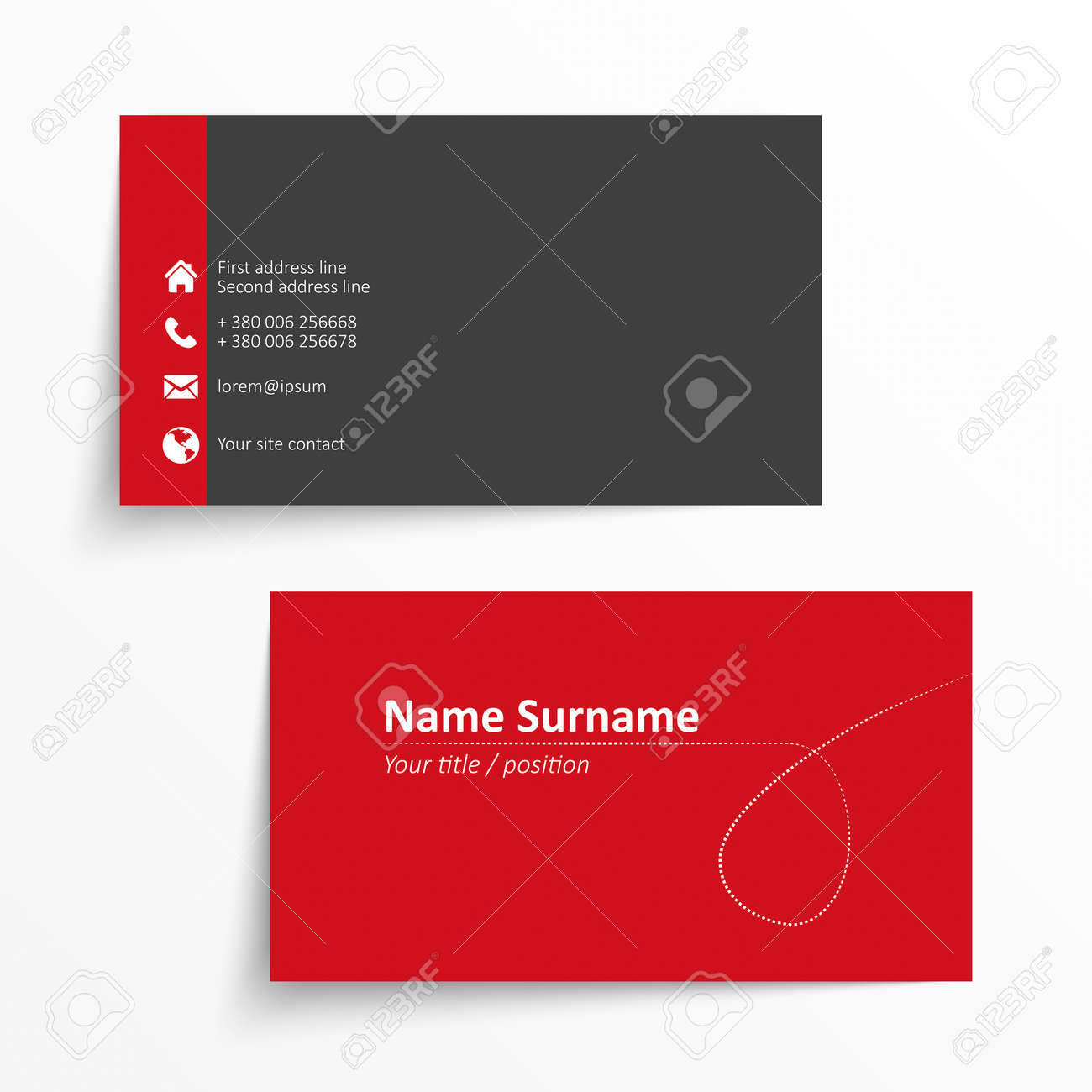 Modern simple business card template royalty free cliparts vectors modern simple business card template stock vector 28508235 fbccfo Choice Image