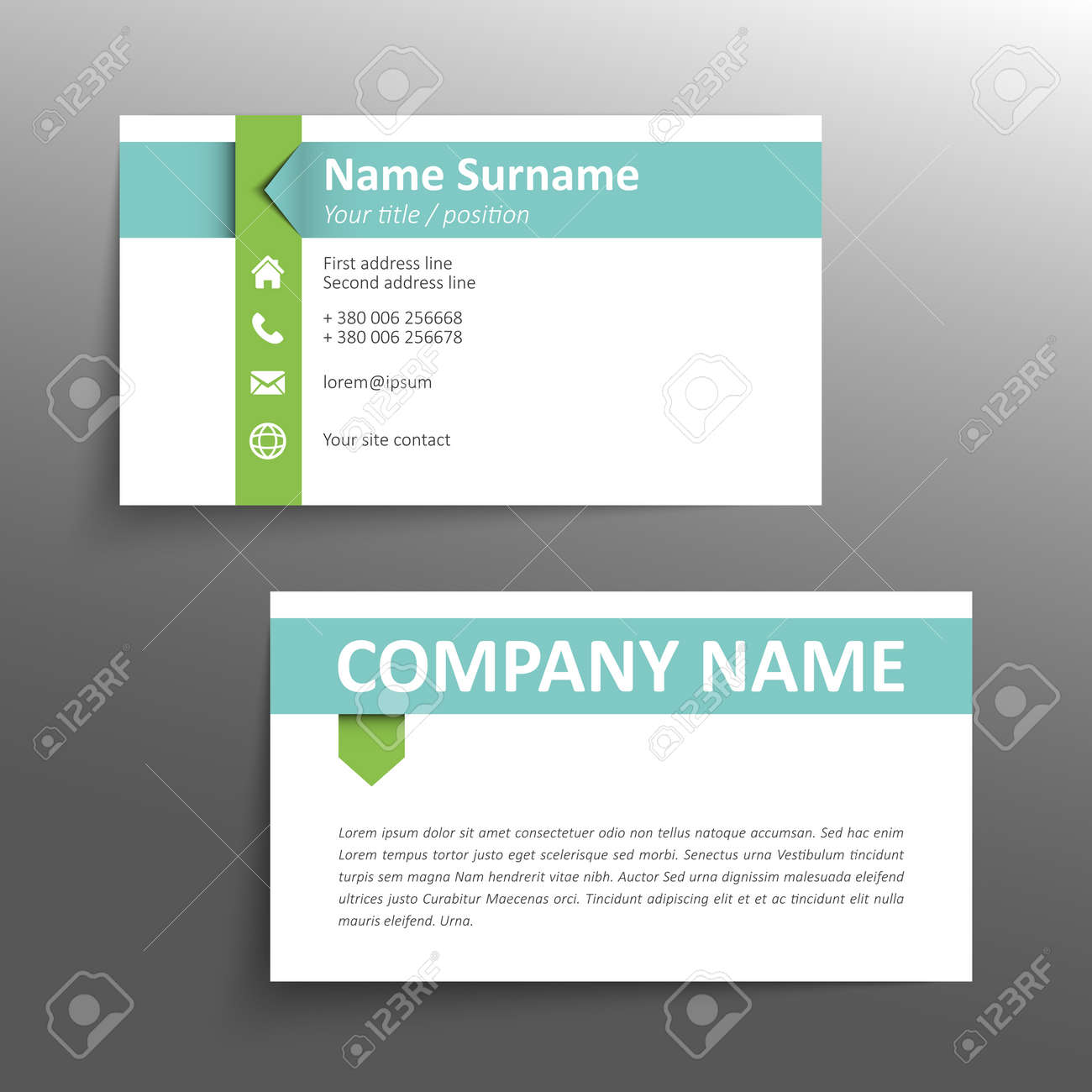 Modern Simple Business Card Template. Stock Vector   30454437  Line Card Template