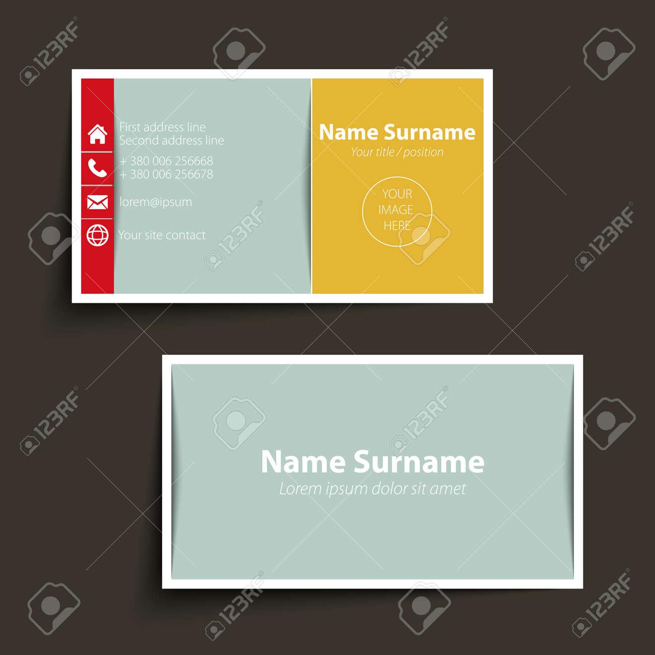 Modern simple business card template vector format royalty free modern simple business card template vector format stock vector 31276591 colourmoves