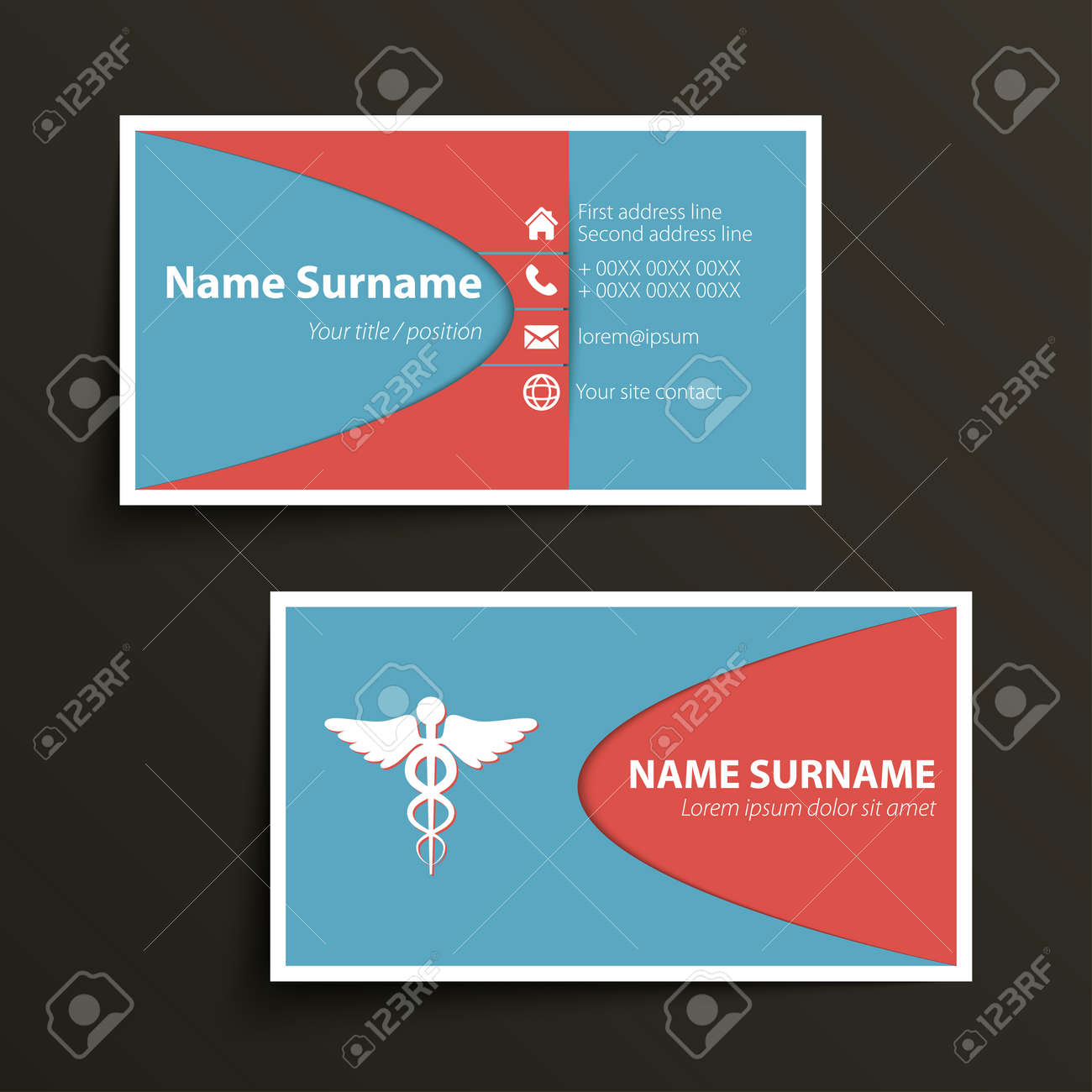 Modern simple business card template vector format royalty free modern simple business card template vector format stock vector 31276631 colourmoves