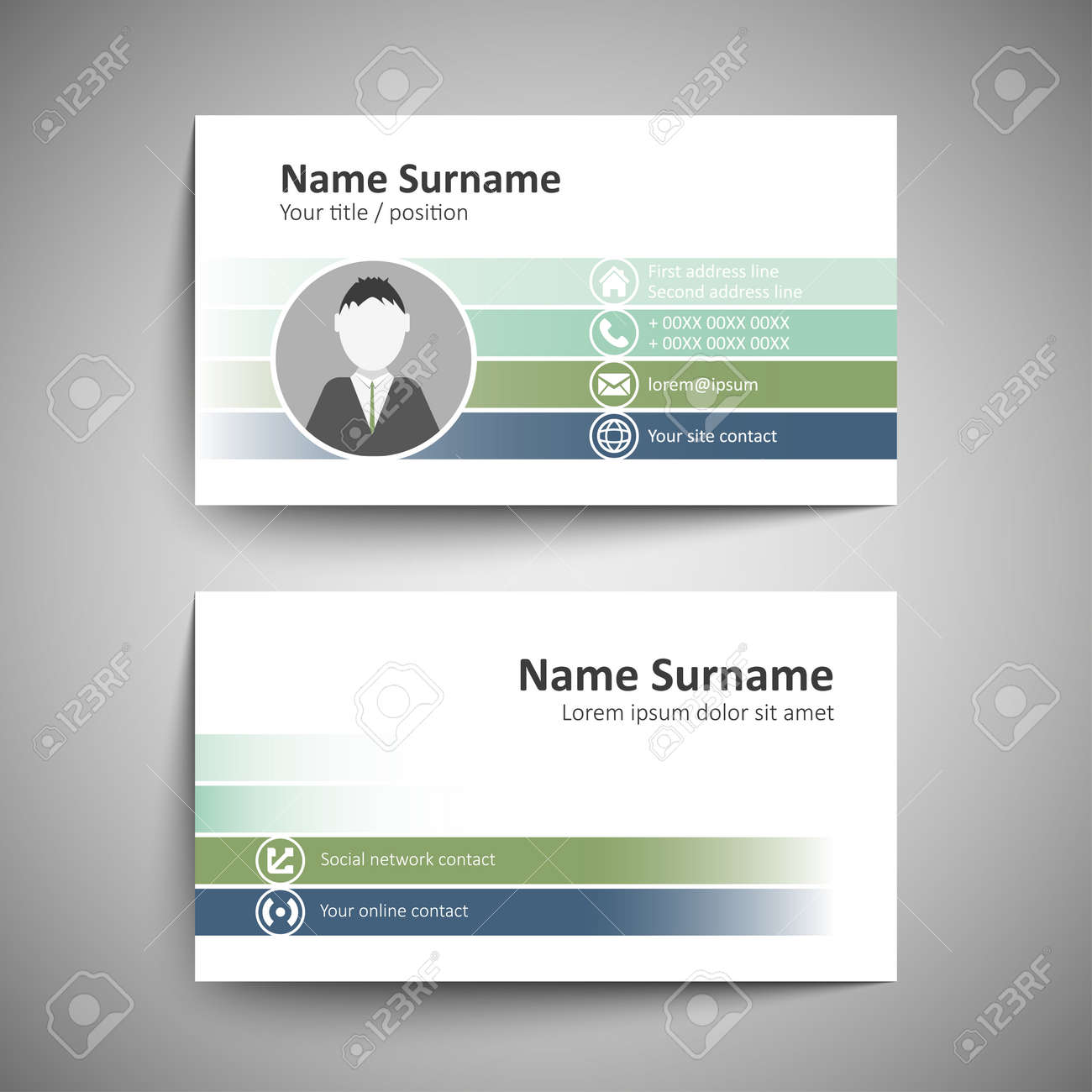 Moderne Simple Modle De Carte Visite Vector Format Banque Dimages