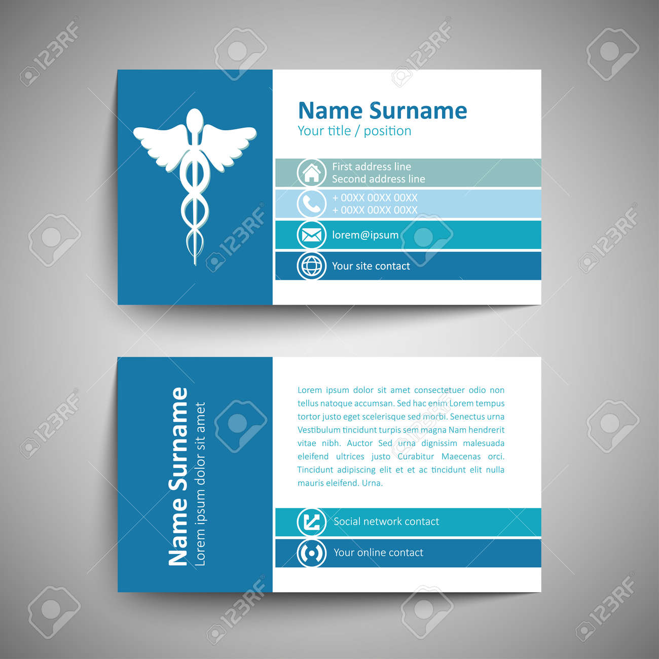 Modern Simple Business Card Template Vector Format Royalty Free – Line Card Template