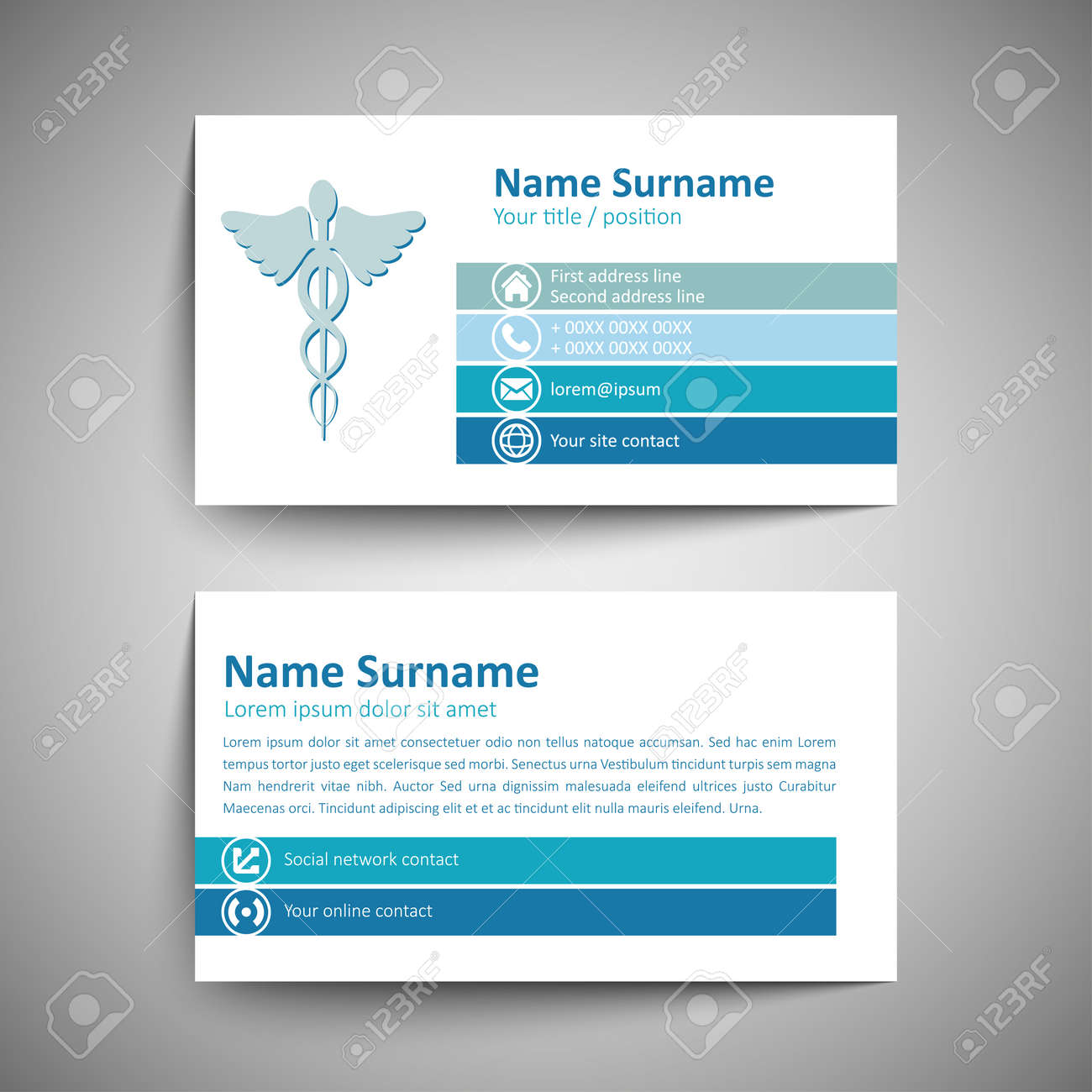 Modern Simple Business Card Template. Vector Format. Royalty Free ...