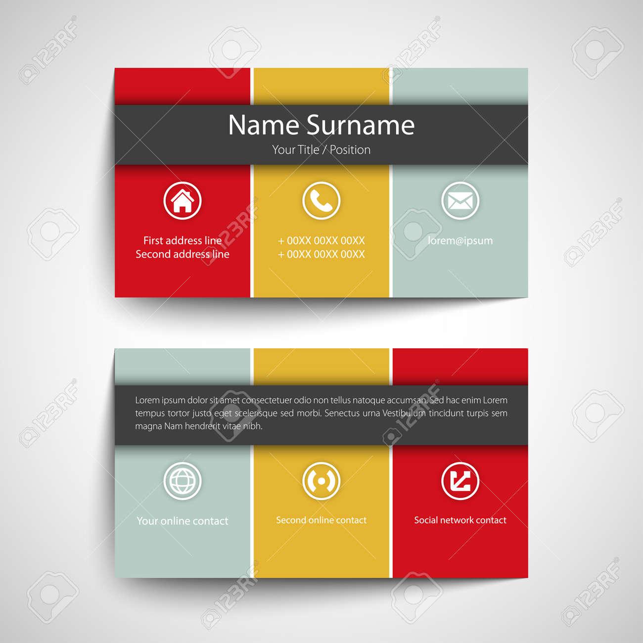 Modern simple business card set template or visiting card vector modern simple business card set template or visiting card vector illustration stock vector colourmoves