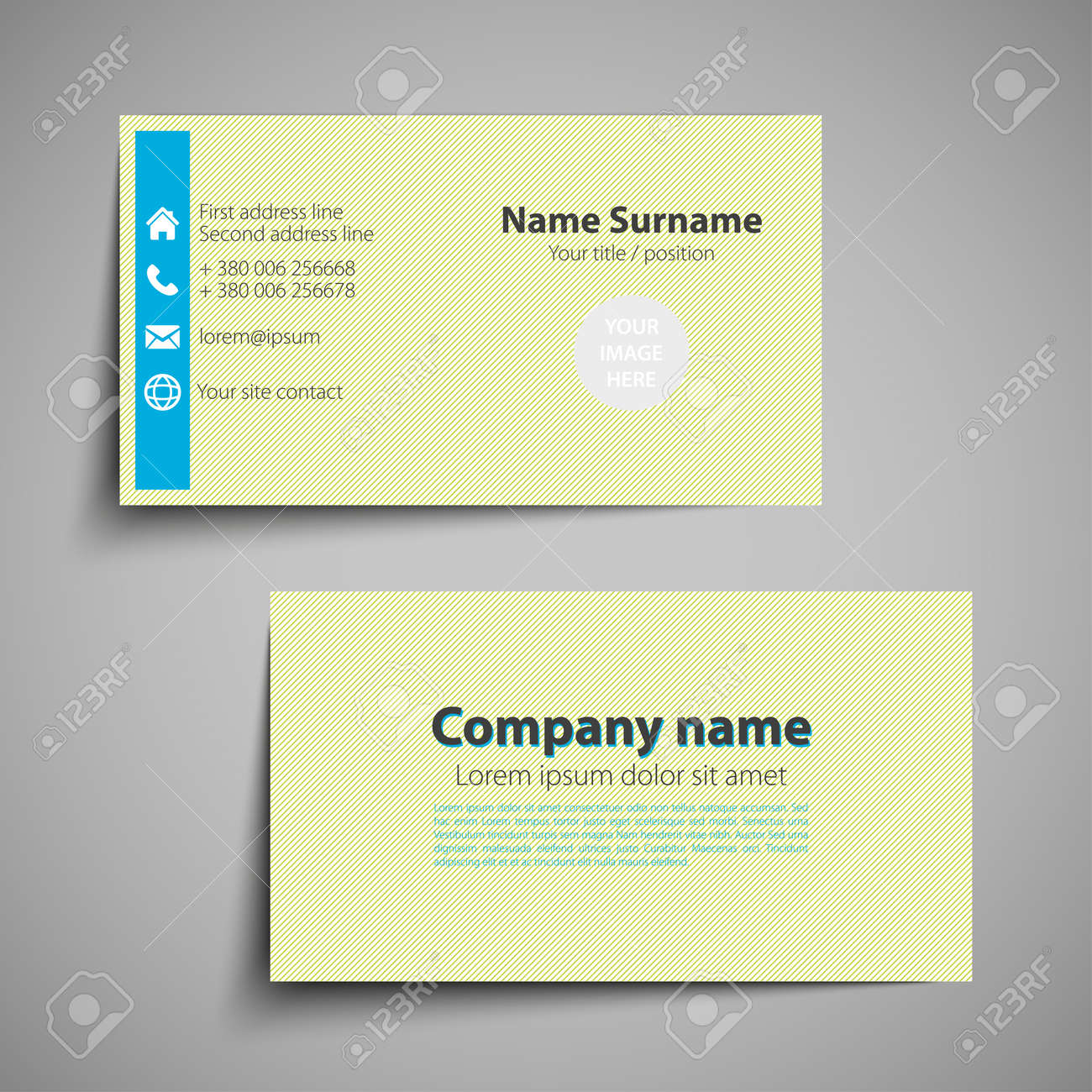 Modern simple business card set template or visiting card vector modern simple business card set template or visiting card vector illustration stock vector reheart Images