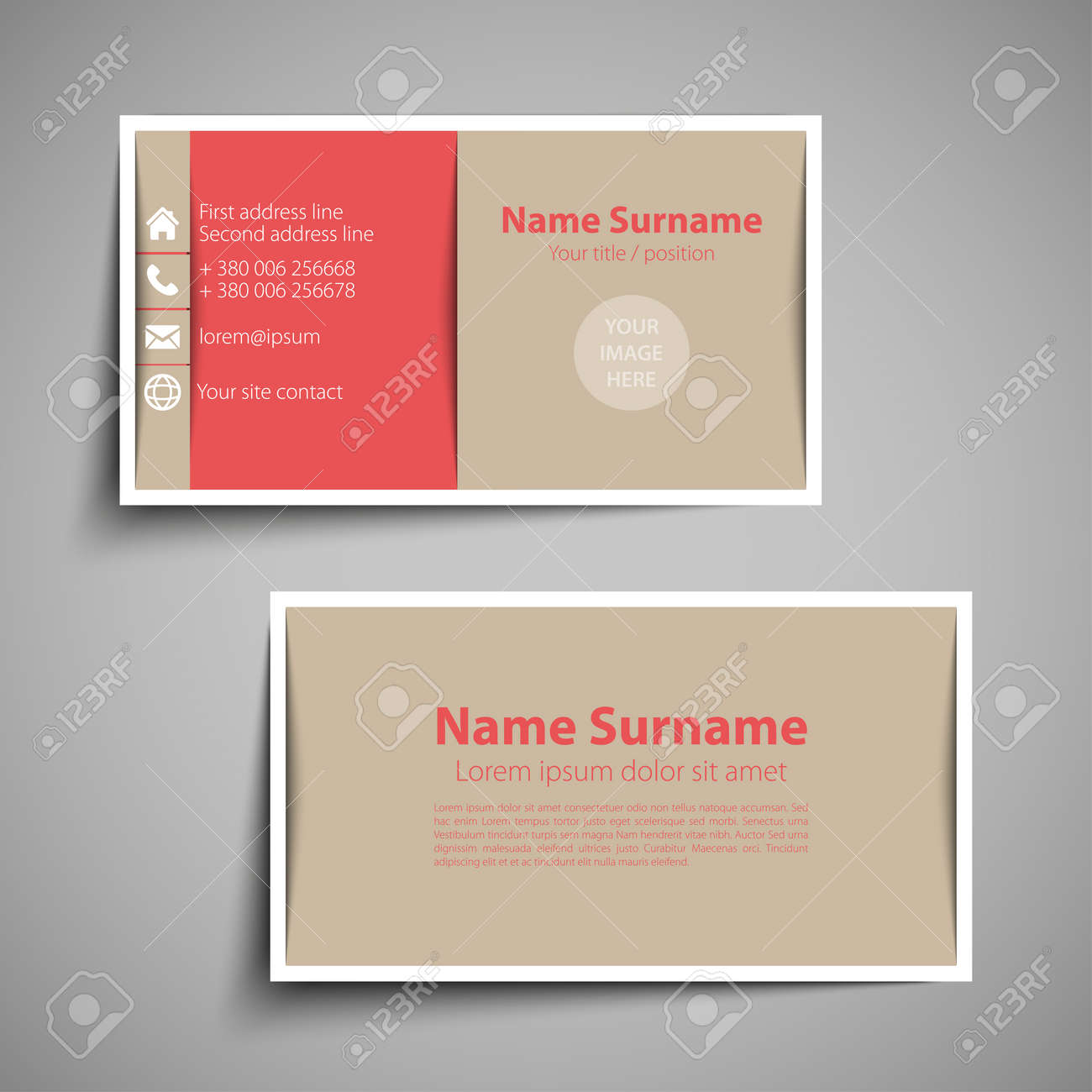 Modern simple business card set template or visiting card vector modern simple business card set template or visiting card vector illustration stock vector colourmoves