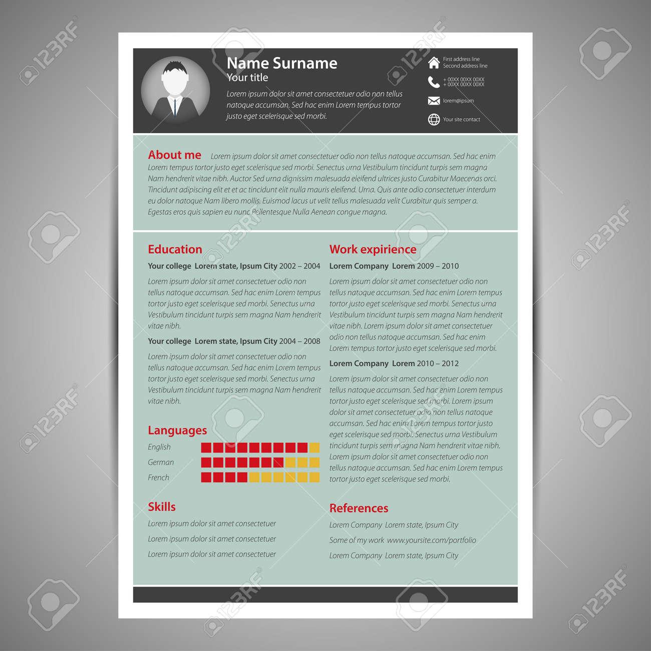 Recent Posts flat resume design Idealvistalistco