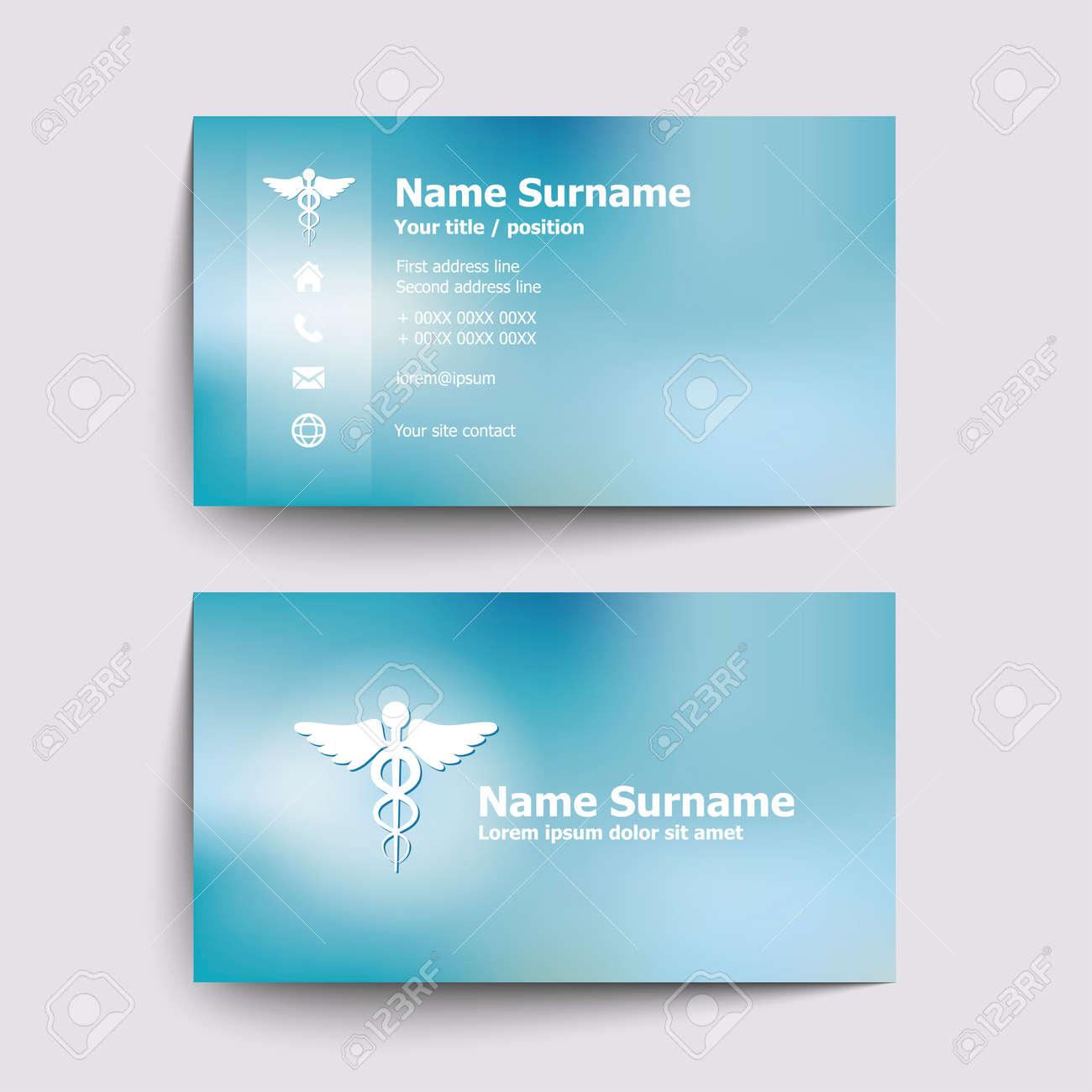 Moderne Simple Carte De Visite Fixe Pour Docteur En Mdecine