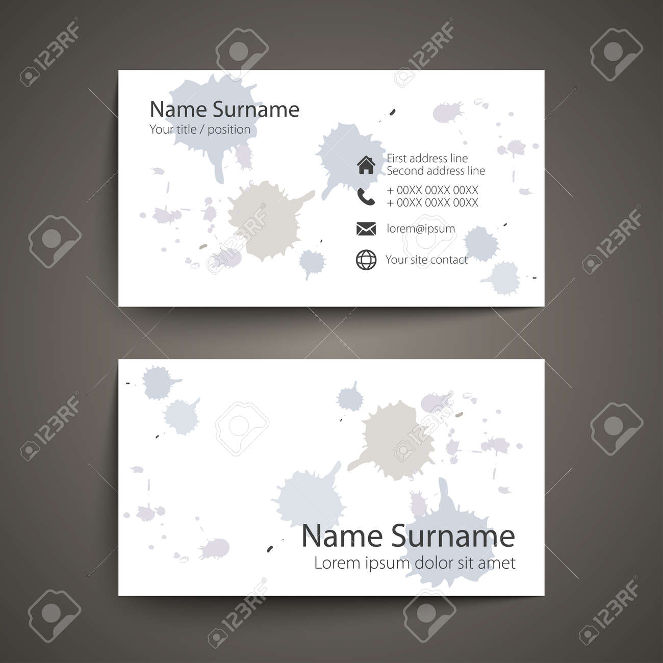 modern simple business card set template or visiting card illustration stock vector 54269726