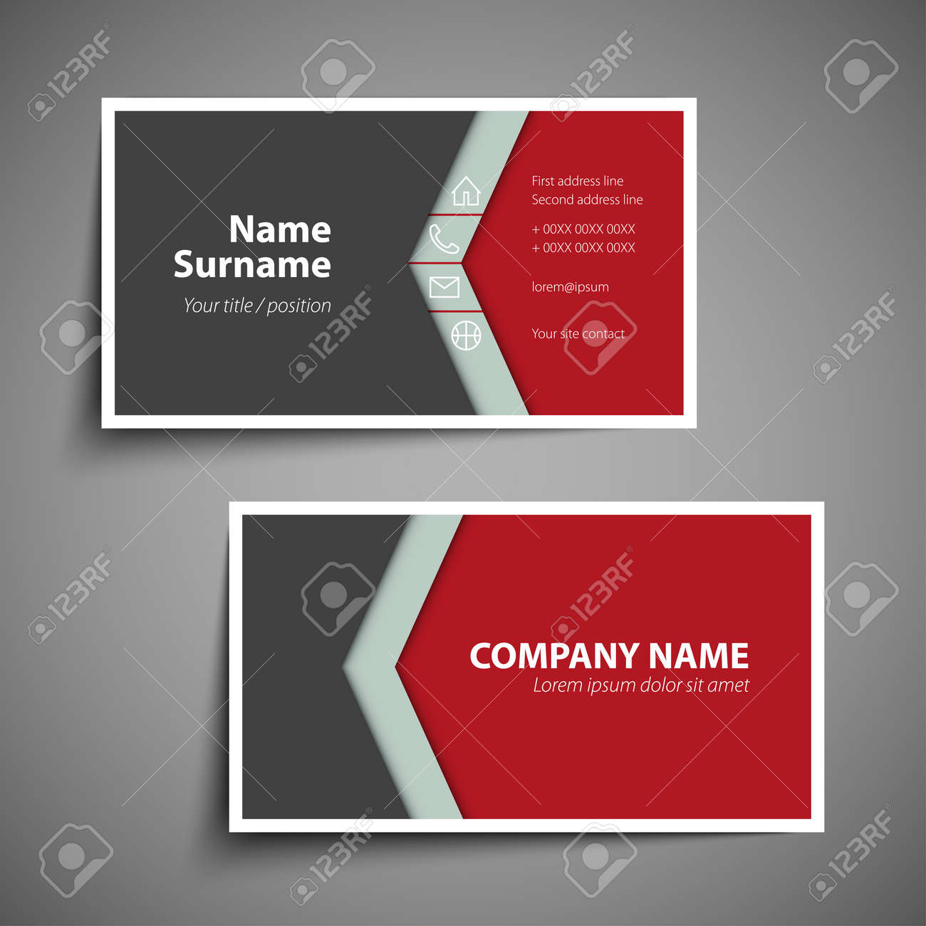 Modern simple business card template design royalty free cliparts modern simple business card template design stock vector 89417894 reheart Gallery