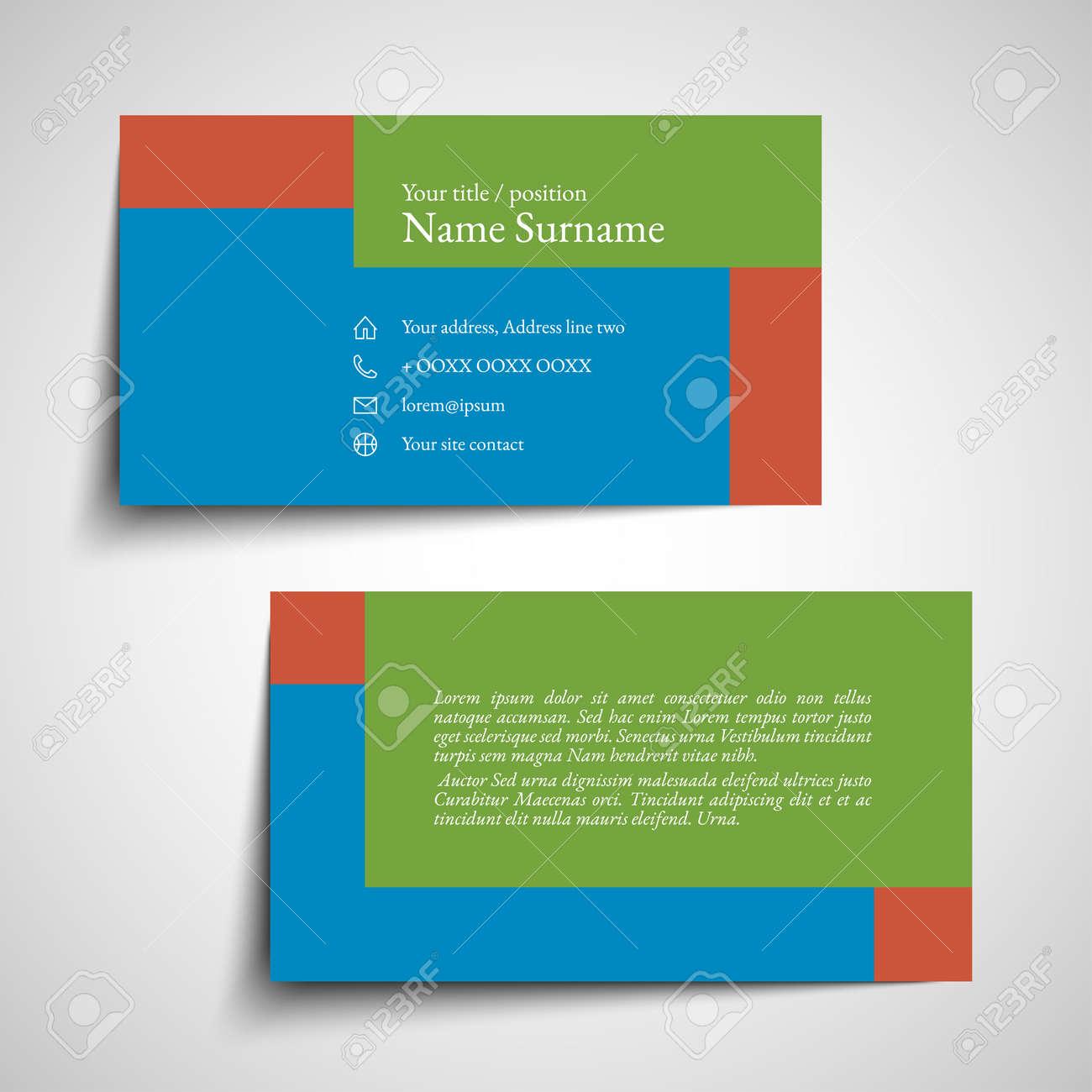 Set of simple modern business card design illustration royalty free set of simple modern business card design illustration stock vector 99118139 colourmoves