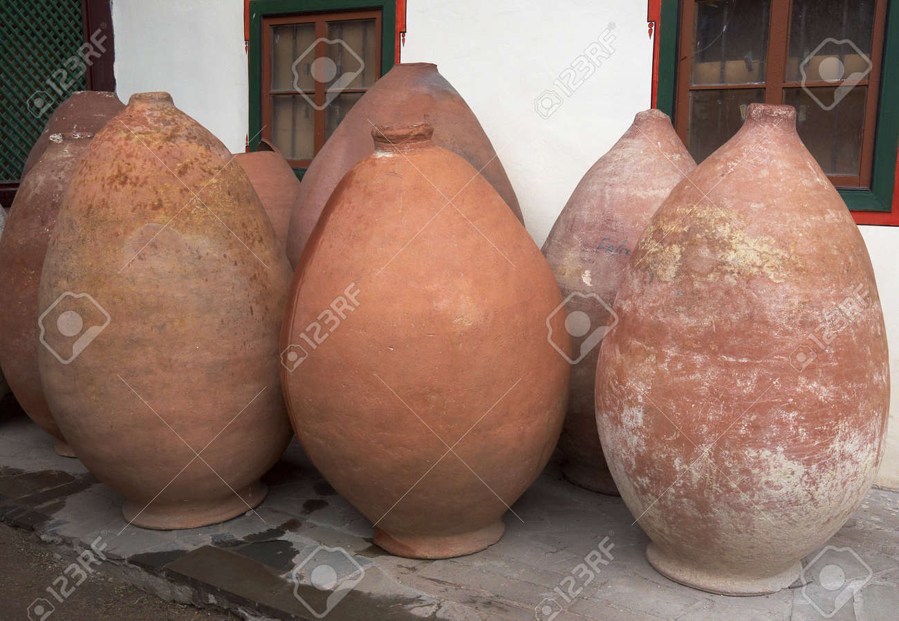 Antique Pitchers For The Oil Salt In Amphoras Form Stock Photo Picture And Royalty Free Image Image 17195833