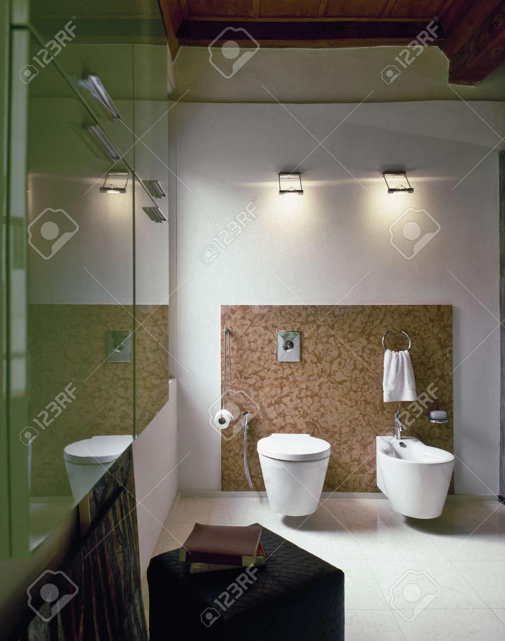 sanitary ware in a modern bathroom Stock Photo - 13615114
