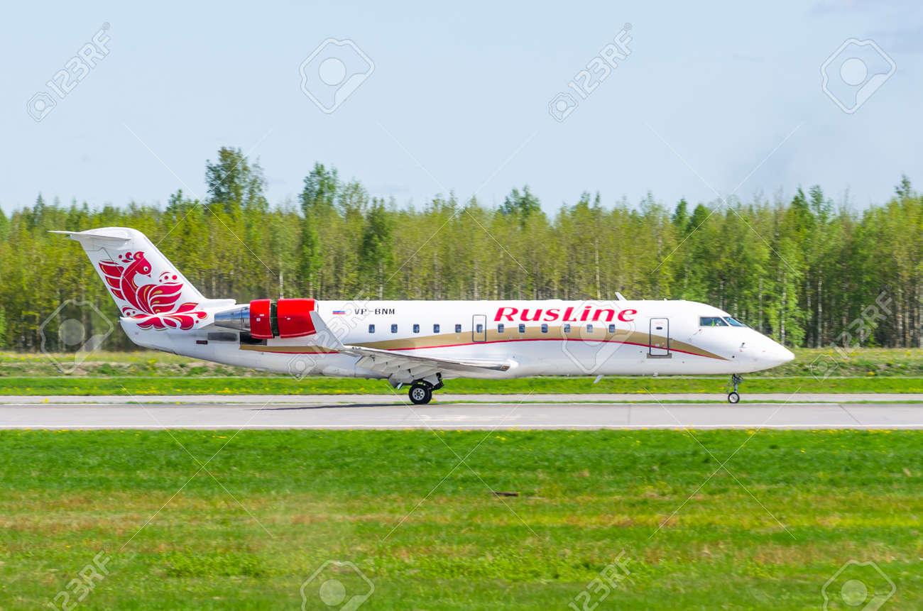 Bombardier crj-200 Rusline, airport Pulkovo, Russia Saint-Petersburg