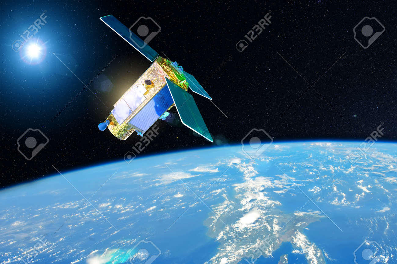 Satellite for studying the atmosphere and hydrosphere in the low orbit of planet Earth. - 140605979