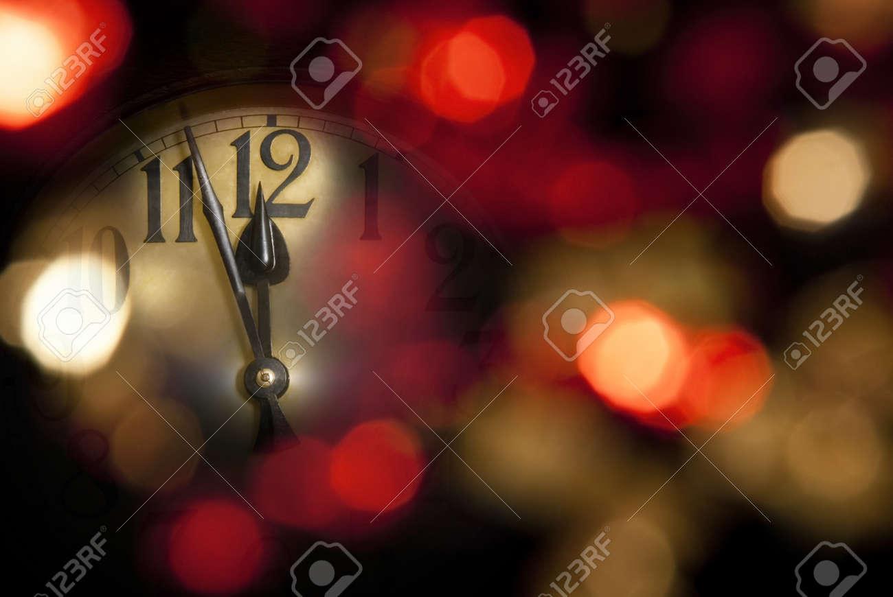 new years clock Stock Photo - 10481289