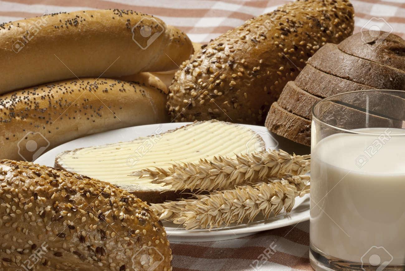bread with milk Stock Photo - 10600999