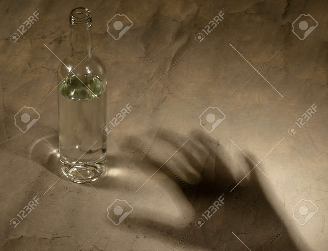 bottle with alcohol Stock Photo - 17374673