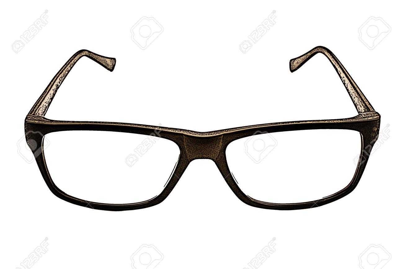 白い背景の上の眼鏡のイラスト の写真素材画像素材 Image 54993338