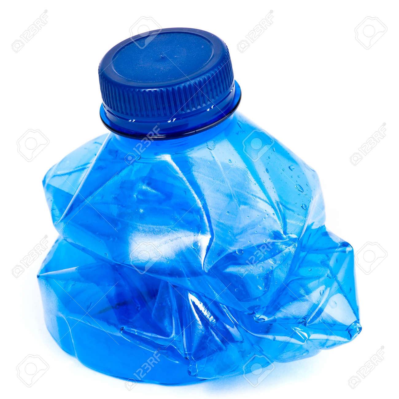 crushed water bottle isolated Stock Photo - 5186430