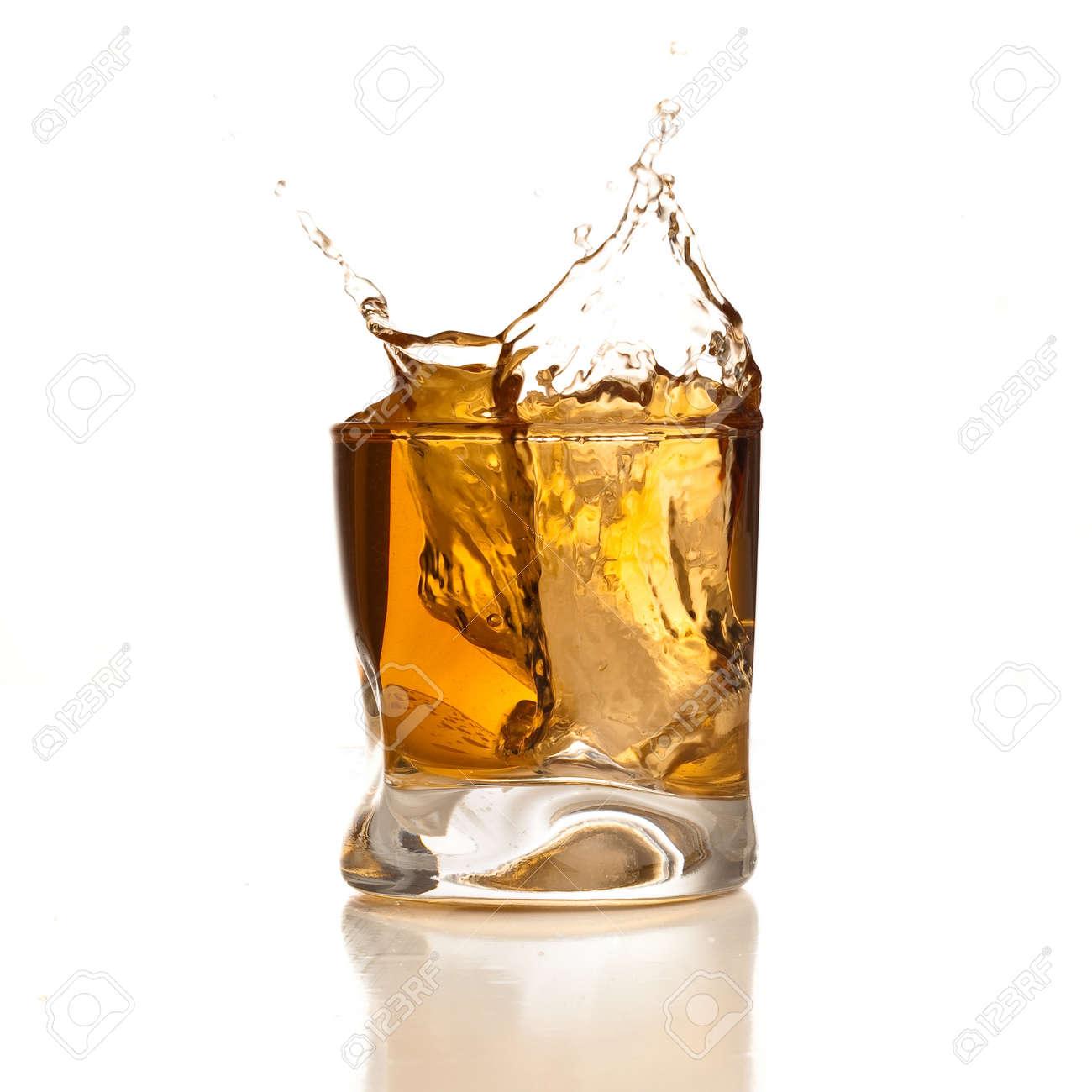 whiskey splash Stock Photo - 7787054