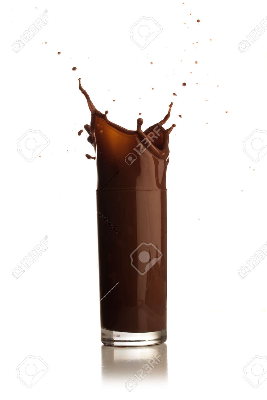 chocolate shake splash Stock Photo - 7786967