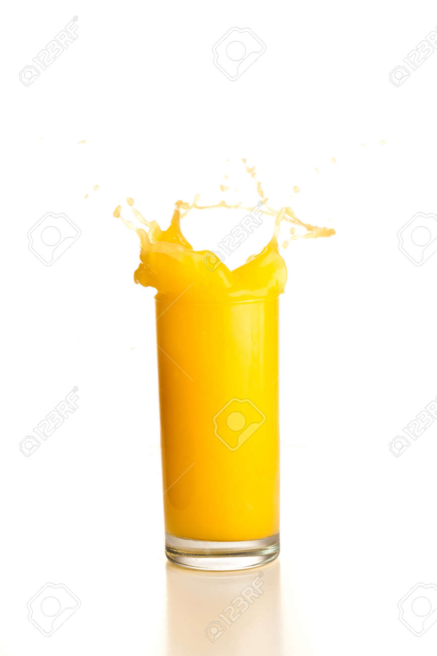 orange juice splash Stock Photo - 7786963
