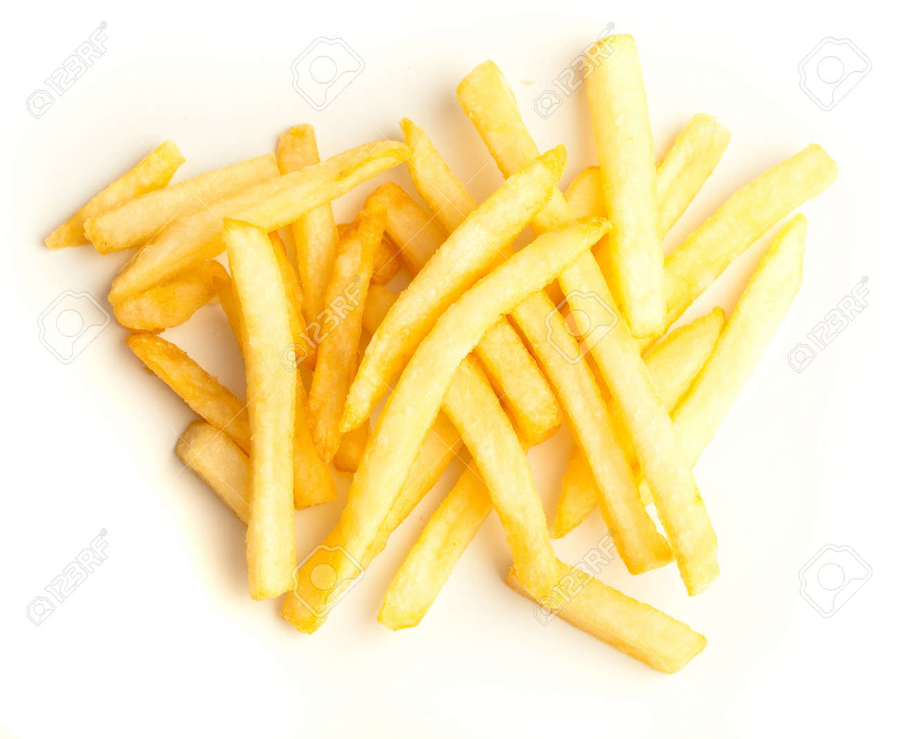 fried potatoes isolated on a white background Stock Photo - 8193938