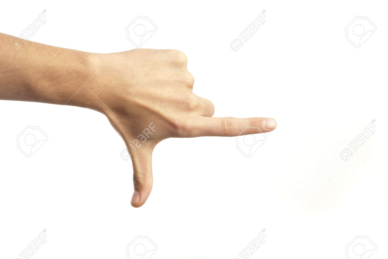 hand pointing isolated on a white background Stock Photo - 8229284