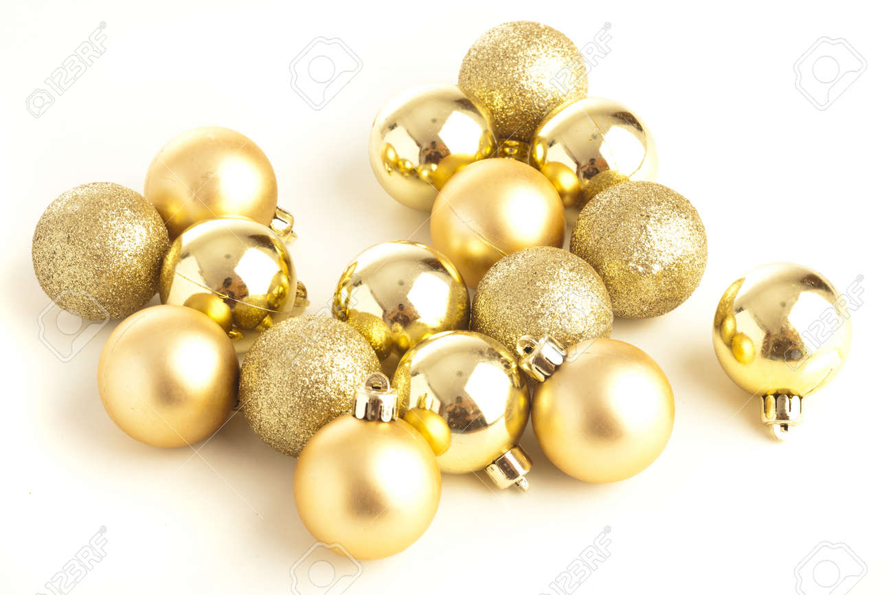 christmas balls isolated on a white background Stock Photo - 8228992