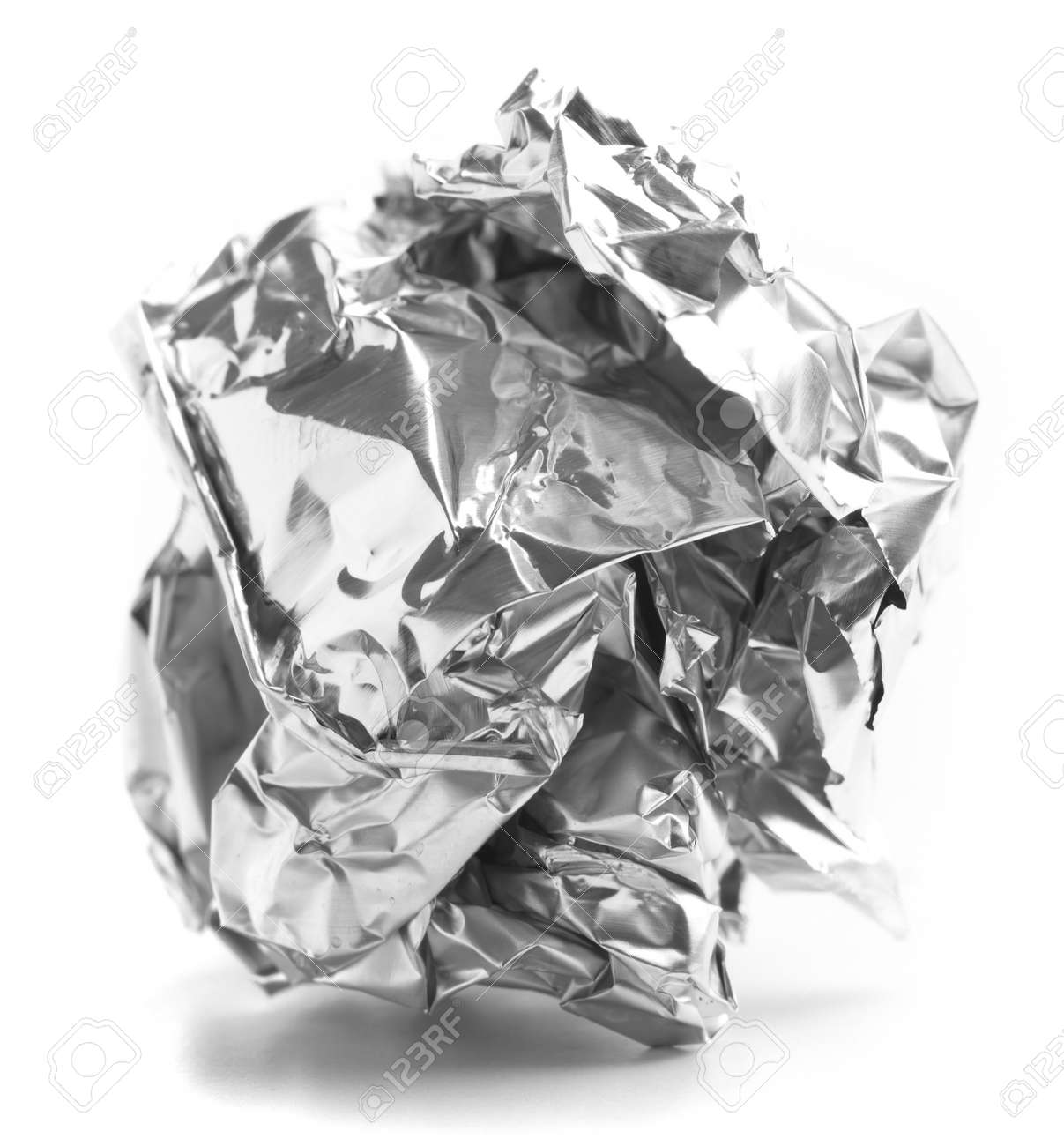 aluminum paper ball isolated on a white background Stock Photo - 8326555