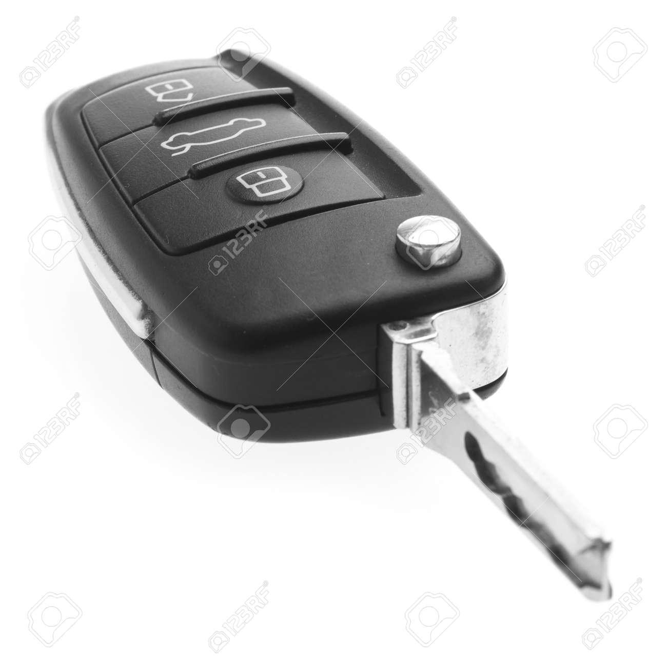 electronic car key isolated on a white background Stock Photo - 8706488