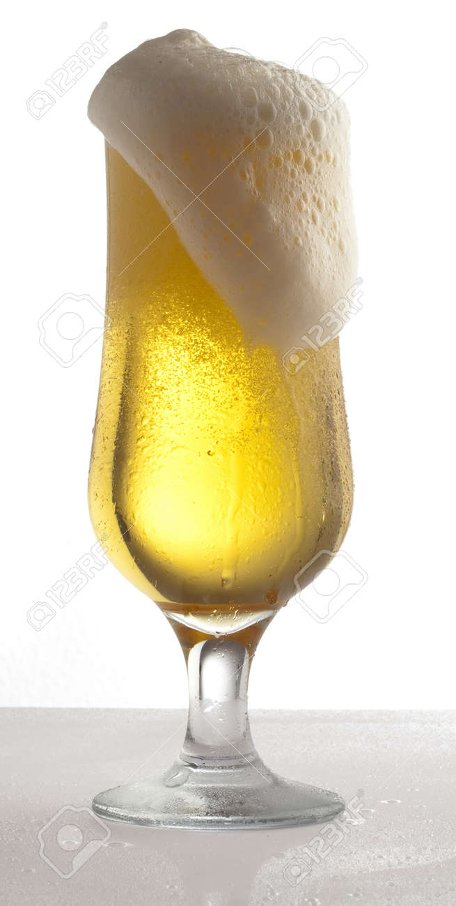 beer on glass on a white background Stock Photo - 8771879
