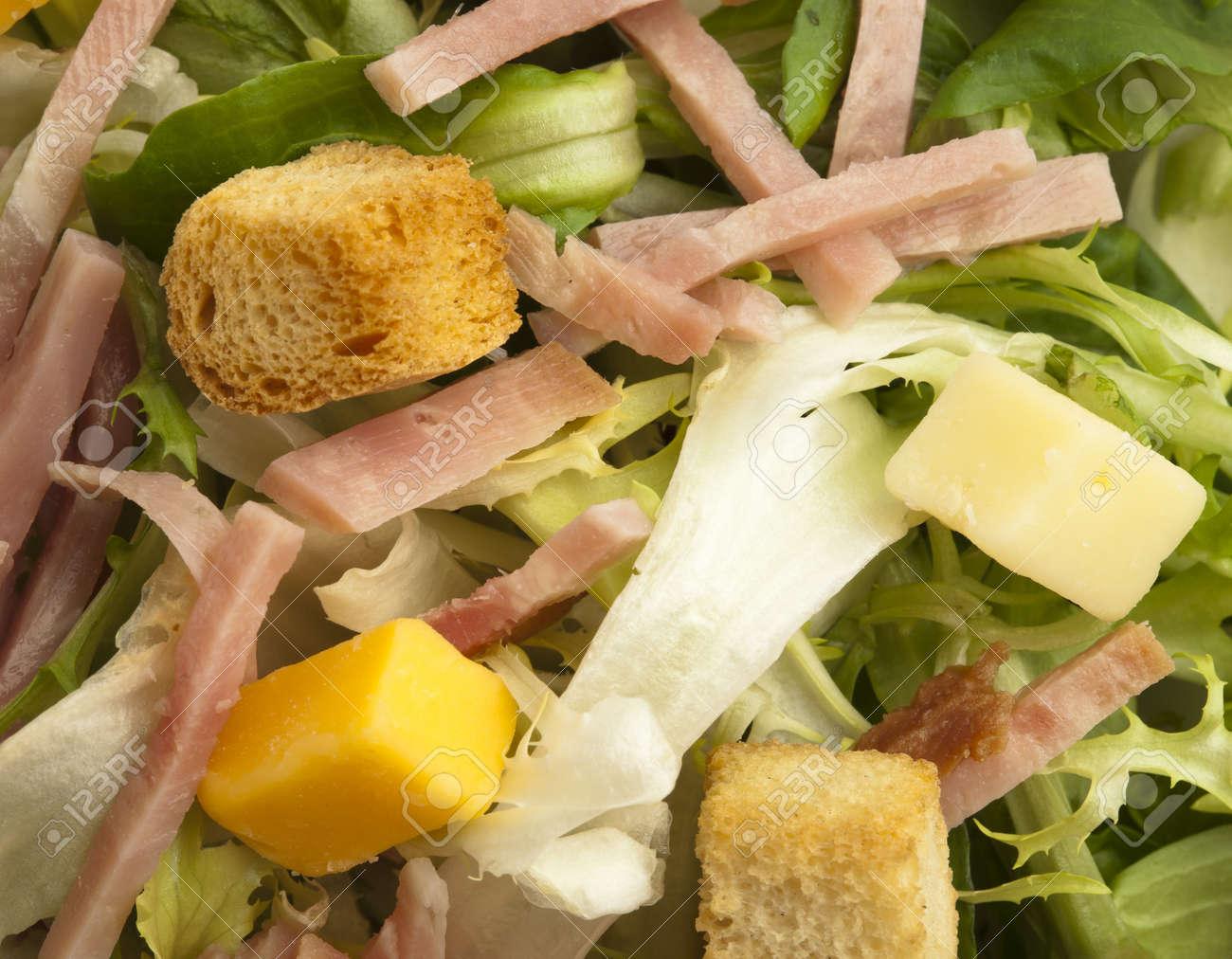 extreme closeup of a delicious salad texture Stock Photo - 8770056