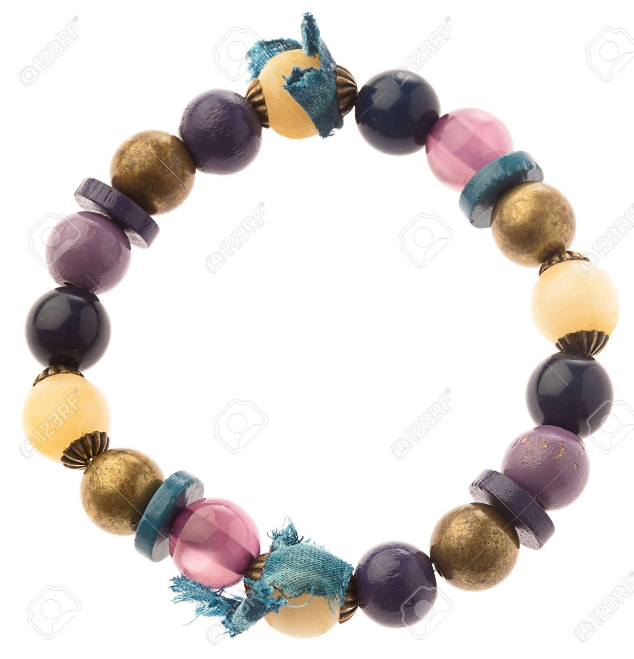 hippie bracelet isolated on white background Stock Photo - 10049128