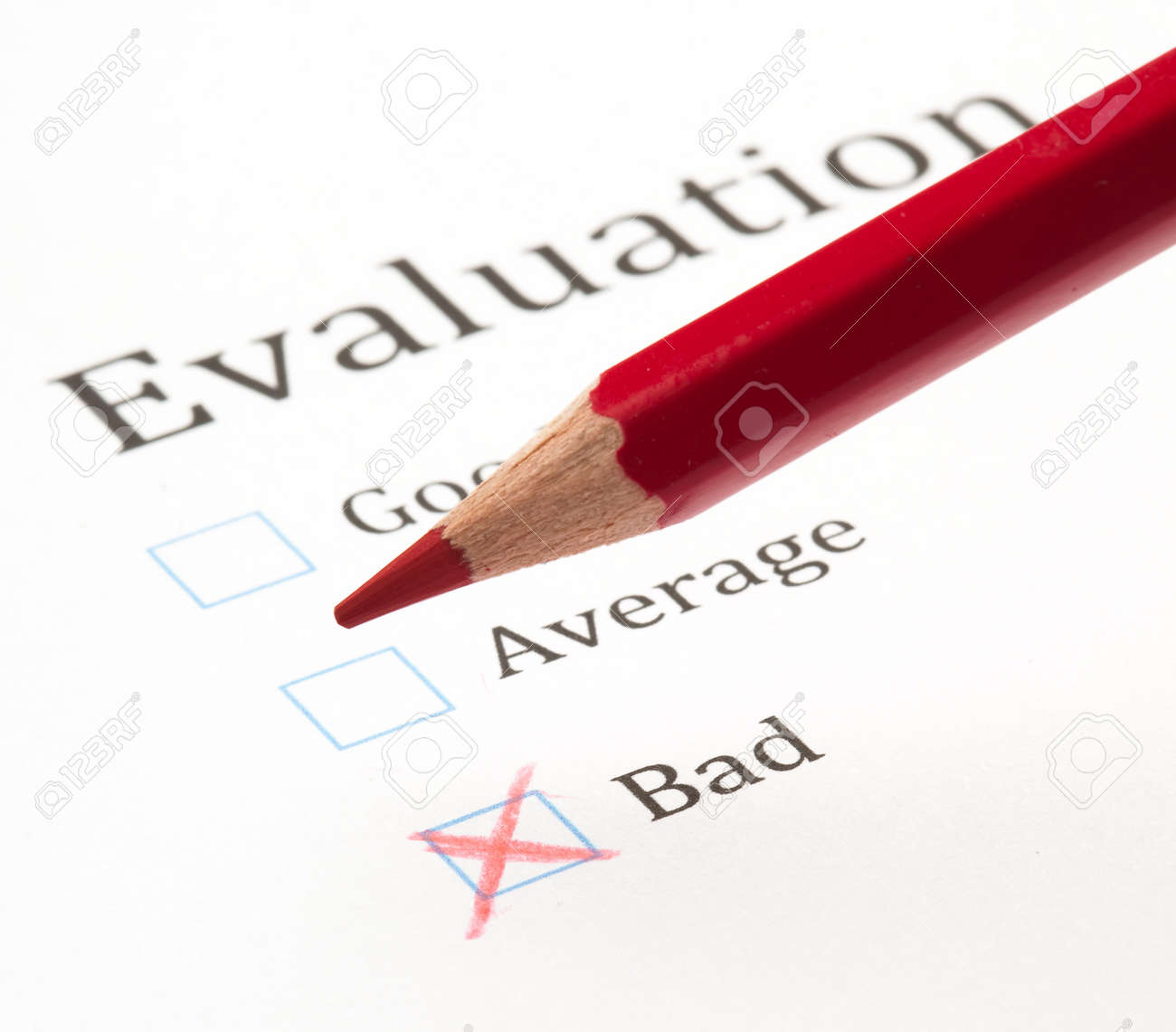 evaluation test check box, extreme closeup photo Stock Photo - 10382439