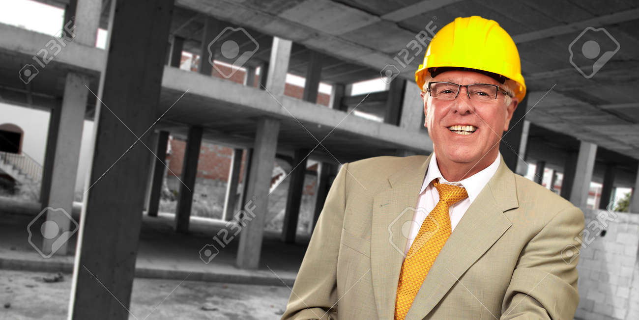 Portrait Of A Senior Architect, Indoor Stock Photo - 16039349