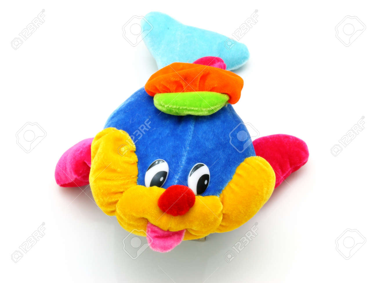 Children's bright beautiful soft toy for the child on a white background Stock Photo - 8079771