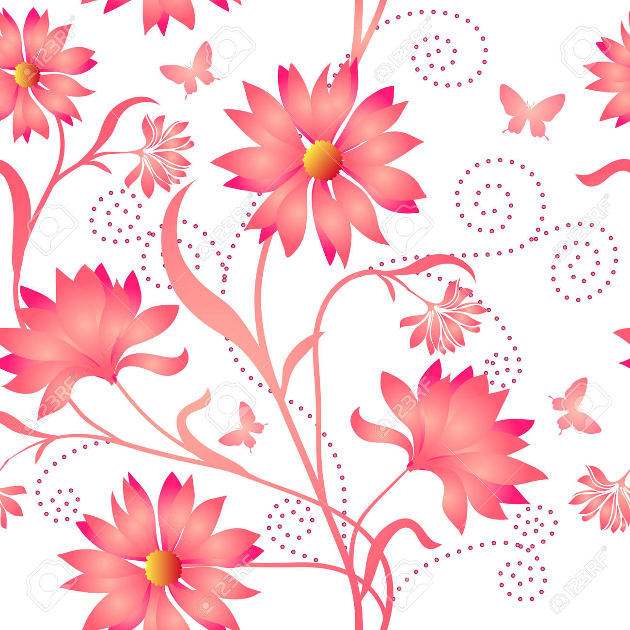 Elegance Seamless color pattern on background Stock Vector - 8841166