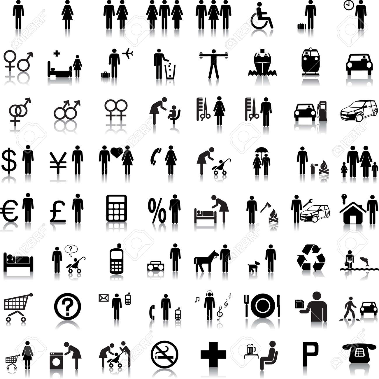 Website and Internet Icons -- People Stock Vector - 9033985