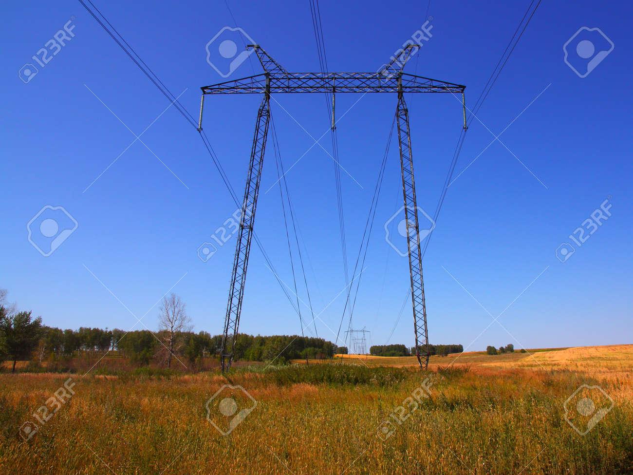 electrical grid near field Stock Photo - 10307651