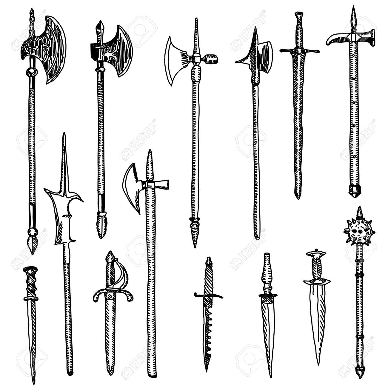 Weapon collection, medieval weapons - 10850949